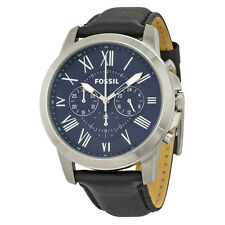 Fossil Grant Chronograph Blue Dial Black Dial Mens Watch FS4990