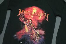 S * NOS vtg 80s 1987 MEGADETH sweat shirt * crewneck tour