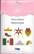 QUICKUTZ Mexico Collection Die Set QKDS-CC-01 Flag, Ruins, Chili Pepper, Pinata