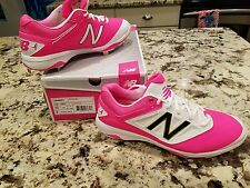MLB ISSUED New Balance PINK L4040KP3 Baseball Cleats KOMEN Breast Cancer Fight