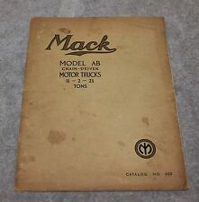 VINTAGE RARE 1923 MACK TRUCK MODEL AB CHAIN DRIVEN CATALOG NO. 102