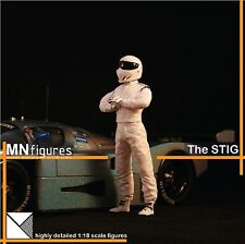 MNfigures STIG TOP GEAR BBC Figure Miniature 1:18 Scale for FERRARI Diecast