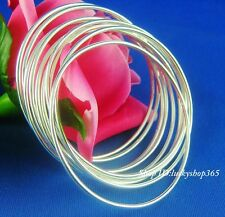 Wholesale 10pcs LF Plated 925 Silver lady plain bangle bracelet 7.0cm