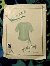 A' La Moda Taffy Top (Has been trimmed to a Size Medium) L.J.Designs 2005 Cute