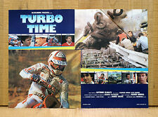 TURBO TIME fotobusta poster Auto Moto Race Cars Motorcycle Racing Driver 1983