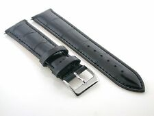 17MM ITALIAN LEATHER WATCH BAND STRAP FOR GIRARD PERREGAUX BLACK
