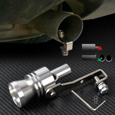 Car Turbo Exhaust Sound Whistle Muffler Auto Blow-off Valve Simulator XL Silver