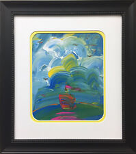 "Peter Max ""Sailboat"" CUSTOM FRAMED Print Art POP psychedelic Neo-expressionism"