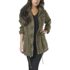 NWT Women's khaki green BUFFALO David Bitton Anorak JACKET w/hood Size Small