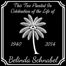 Personalized Palm Tree Planting Dedication Ceremony Memorial Granite Marker