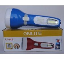 ONLITE 3 W Laser LED Rechargeable Torch + 8W SMD LED DUAL Function Light