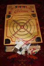 "Vtg 1970 Carrom Wood 26"" Game Board Original Box Pieces & Paperwork Excellent"