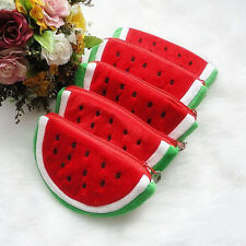 NEW Plush Red Watermelon Coin Purse Wallet Pouch Bag Womens Fashion Lovely Bags