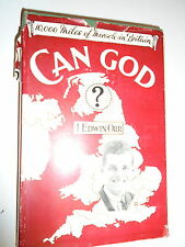 * CAN GOD? by J EDWIN * UK POST £3.25* HARDBACK* MARSHALL MORGAN & SCOTT *1935*