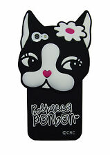 Rebecca Bonbon Bulldog Matte Silicone Soft Case For iPhone 5 5S Gift Box For Her