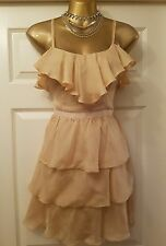 Topshop champagne ruffled dress uk10 Party/Clubbing/Cocktail/Races/Formal NWOT