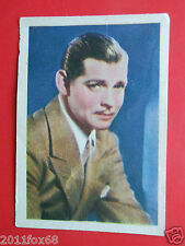 figurine attori acteurs cards nestle stars of the silver screen #51 clark gable