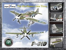 Flight Wing Accurate hunhunter/ Texas P-51D 1/18 Scale Diecast Airplane Model