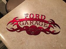 Plasma cut Kandy red Ford  Garage Metal Wall Art Home Decor