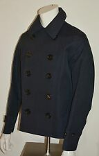 NWT BURBERRY LONDON $1995 MENS COTTON RENOLD PEACOAT JACKET COAT SZ US 46 EU 56