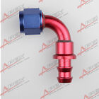 8AN -8AN 90 DEGREE Push-on hose end fitting adaptor fuel oil line hose PHD-90D-8