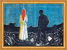 Two People: The Lonely Ones Edvard Munch Einsamkeit Schatten Rücken B A3 01530