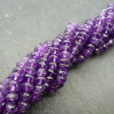 "African Amethyst 3.5-4mm Faceted Rondelle Beads 15"" Strand Semi Precious Gem"