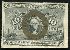 10 Ten Cents Second Issue Fractional Currency Note Extremely Fine