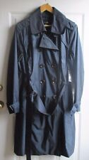 EAST 5TH Trench Rain Coat - 2X Womens Plus - dark navy blue removable lining