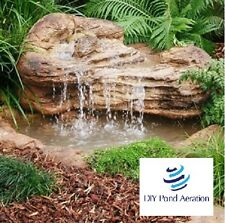 """Faux Waterfall Rock for Fish/Koi Ponds Pools Water Garden Accents 46""""x35""""x19"""""""