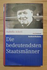 Die bedeutendsten Staatsmänner von Isabella Ackerl (2006, Gebundene Ausgabe)