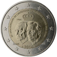 Luxembourg / Luxemburg - 2 Euro Accession to the throne of the Grand-Duke Jean