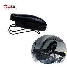 1pc Black Car Accessory Sun Visor Sunglasses Eye Glasses Card Pen Holder Clip