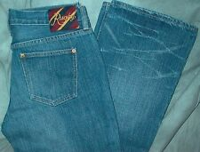 "RALPH LAUREN RUGBY MEN'S LOW 28"" X 33"" DISTRESSED TIMEWORN WASH BLUE JEANS, NEW!"