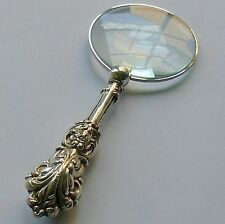 J.C.Plimpton HM Silver Handle Magnifying Glass Chester 1889 Victorian