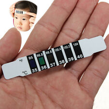 Infant Kid Baby Slim Forehead Strip Head Temperature Test Thermometer Sticker PS