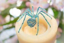 Dew Drop Beaded Spider Ornament with Legend of the Christmas Spider Story