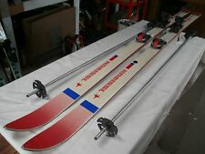 DOWN HILL RACING SKIS. KNEISSL SUPERFLEX RED STAR GRAPHITE. 200 CM, MENS. 1989.