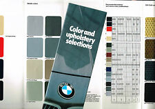 1981 BMW COLOR Paint Chip CHART with Interior Leather Brochure;320i,528e.633CSi