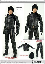CC192 1/6 Clothing - Male Black Biker Clothing Set-Fit HOT TOYS,ENTERBAY,PHICEN