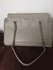 NWT MICHAEL KORS Astor Large Studded Leather Satchel  $368 CEMENT SILVER