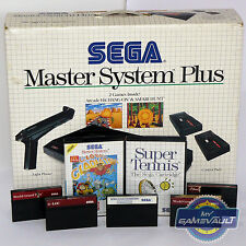 Sega Master System Plus Complete in Box - Bundle with 9 games, Phaser & 2 Pads