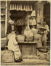 Photo Sebah Albuminé Commerce Egypte Vers 1870