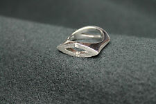18CT WHITE GOLD RING WITH DIAMONDS - 0,10KTS!!!
