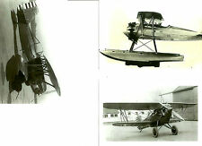 "LOT OF 3 WWII: #14 U.S. ARMY - NAVY BIPLANES AIRPLANES 4"" X 6"" B & W PHOTOGRAPHS"