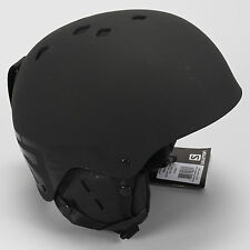 Salomon Brigade Ski Snowboard Helmet MEDIUM 56.5-57.5 Black Matte