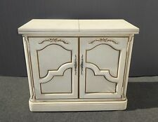 Vintage THOMASVILLE French Country SERVER White & Gold Fold Out Extendable Top