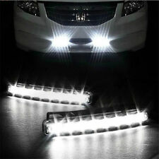 New Car Universal 8 LED DRL Fog Driving Daylight Daytime Running Light Head Lamp