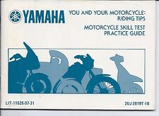 Yamaha Motorcycle Skill Test Practice Guide LIT-11626-07-01