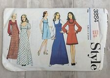 VTG  60s 70s Style Sewing Pattern Dress With Gathered Sleeves Size 16 Bust 38